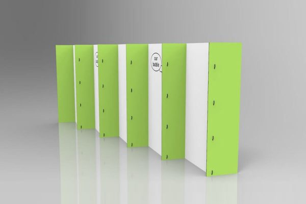 Temporary wall partition system for social distancing in classrooms, schools, universities and events