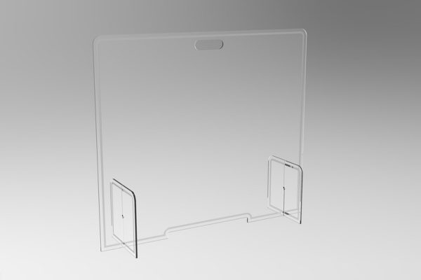 Portable desk sneeze screen for offices and teachers in classrooms